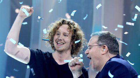 ESC-Vorentscheid: Michael Schulte feiert mit Elton seinen Sieg