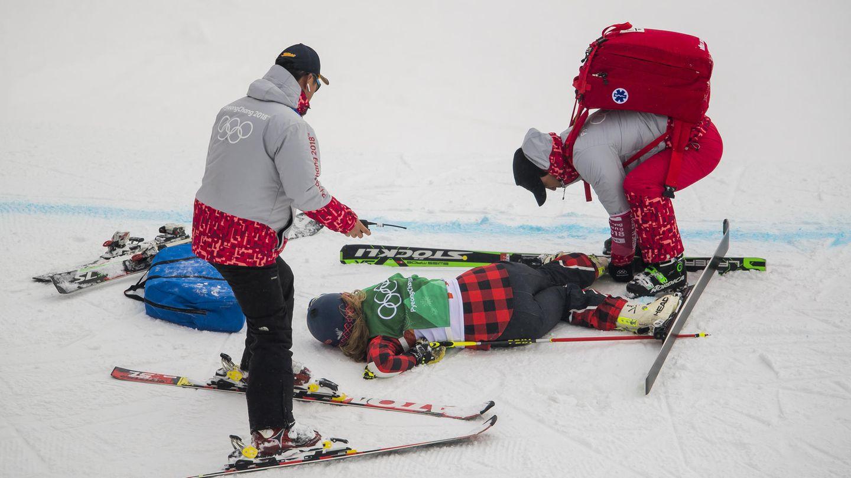 Der Skicross-Wettbewerb der Frauen endete für die Kanadierin India Sherret im Krankenhaus - bei weitem nicht der erste schwere Sturz in Pyeongchang