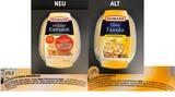 """Eiersalat von Homann  Der Ei-Gehalt des Salats schrumpft laut Zutatenliste von 58 Prozent auf 50 Prozent. Stattdessen stehen nun zwei neue Konservierungsstoffe auf der Zutatenliste: Natriumbenzoat (E211) und Kaliumsorbat (E 202).    So rechtfertigt sich der Hersteller:  Der verbesserte milde Eiersalat enthalte eine """"besonders milde"""" Salat-Mayonnaise und einen """"feineren Eischnitt"""". Es werde auf Salz und die Zugabe von Sahne verzichtet. Die optimierten Rezepturen seien als """"geschmacklich ausgewogen"""" bewertet worden, so dass man sich zur Markteinführung entschlossen habe."""