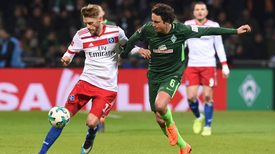 Bremen gegen den HSV in der Bundesliga