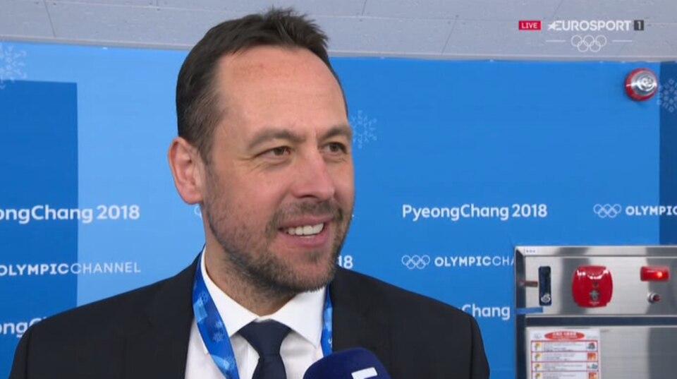 Bundestrainer Marco Sturm im Interview bei Eurosport nach dem Spiel gegen Russland.