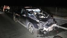Im Landkreis Schweinfurt hatte eine Frau einen Unfall - als Ersthelfer herbeieilten, wurden sie von einem Fahrzeug erwischt