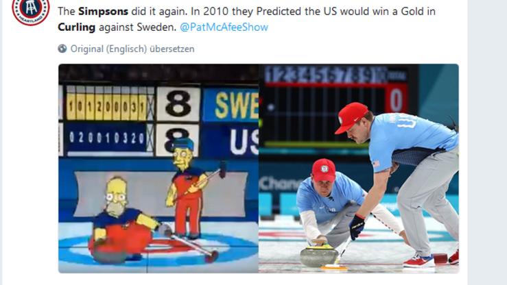US-Kultserie: Die Simpsons lagen bei Olympia schon wieder richtig - ihre unglaublichen Vorhersagen