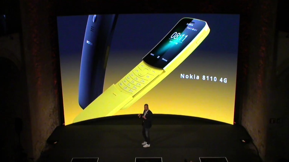 Mobile World Congress in Barcelona: Neue Nokia-Smartphones: Das 8110 ist zurück - diesmal mit LTE