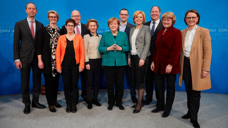 Angela Merkel und die CDU Minister