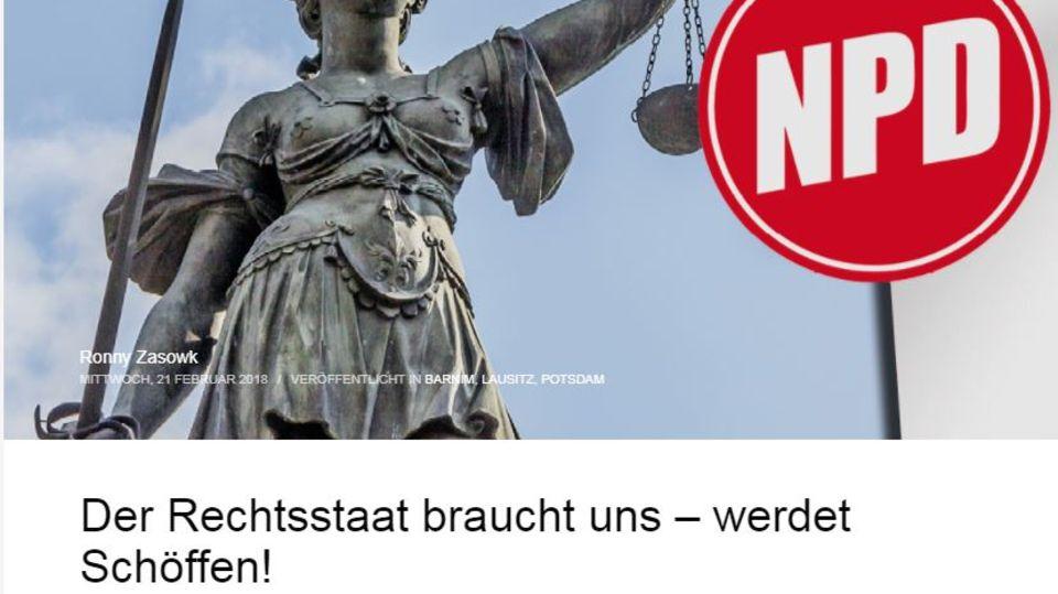 Der Aufruf der NPD in Brandenburg