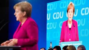 Bundeskanzlerin Angela Merkel auf dem CDU-Parteitag