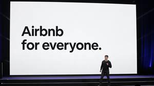 AirBnb-Mitgründer und CEO Brian Chesky spricht auf einer Veranstaltung in San Francisco.