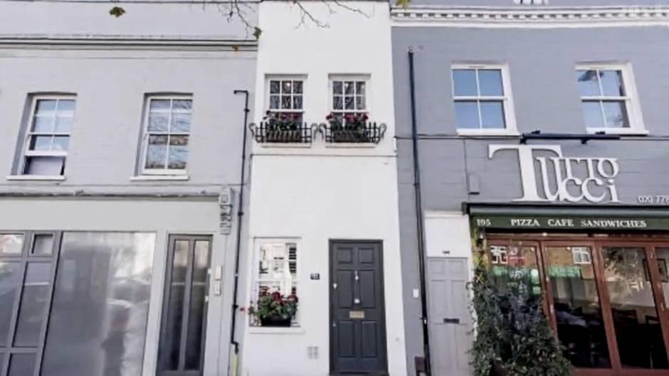 Klein, aber oho!: Dieses nur 2,3 Meter breite Haus steht in London zum Verkauf - für eine Million Pfund