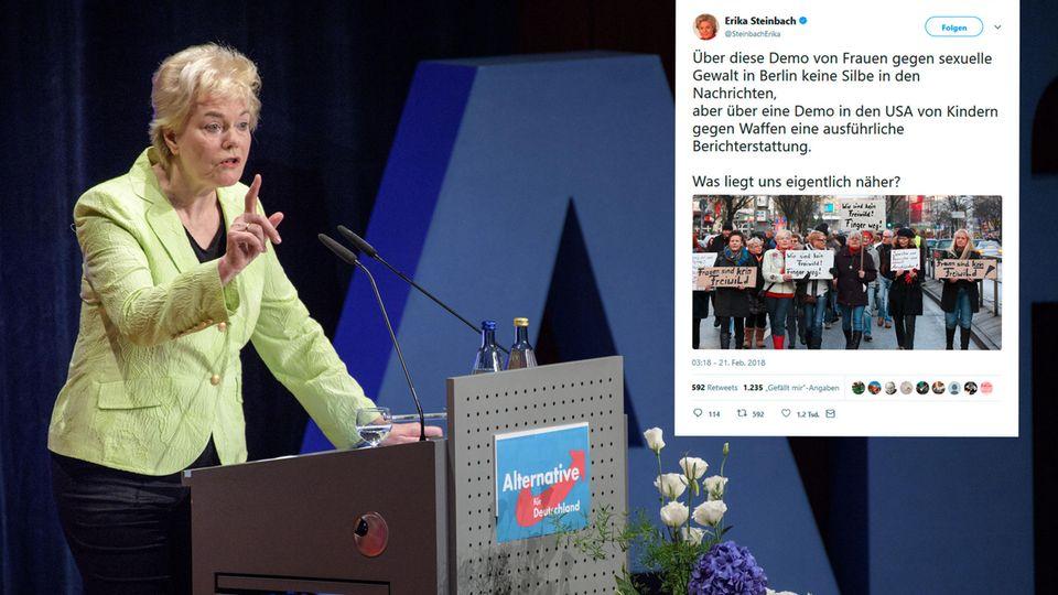 Ich twittere, also bin ich? Ex-Bundestagsabgeordnete Erika Steinbach (Archivbild) provoziert im Netz