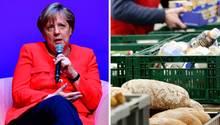 Bundeskanzlerin Angela Merkel und die Lebensmittelausgabe der Essener Tafel