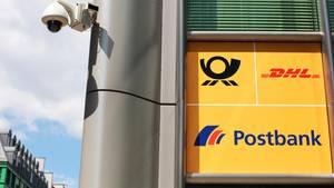 Postbank-Filiale mit Symbol