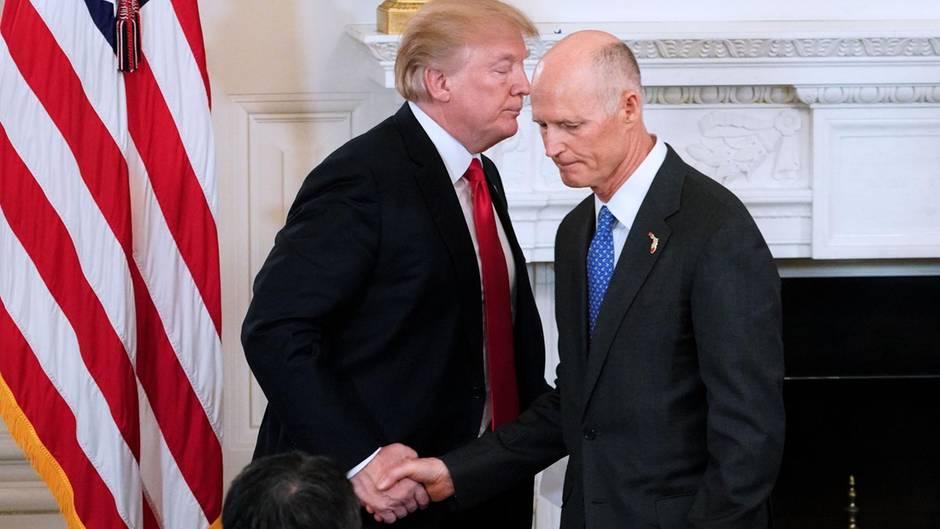 Donald Trump und Rick Scott, Gouverneur von Florida