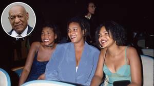 Ensa Cosby (l.) mit ihren SchwesternErika und Evin im Jahr 1992