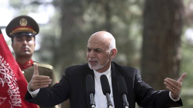 Ghani in Kabul: Der afghanische Präsident hat den Taliban eine Waffenruhe angeboten