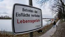 kältewelle - Deutschland - Eisfläche - Einbruchgefahr
