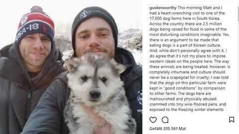 Instagram-Post von Gus Kenworthy