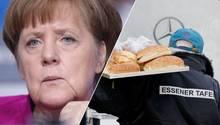 """Ein bisschen umständlich meinte Kanzlerin Angela Merkel zum Aufnahmestopp für Ausländer bei der Essener Tafel: """"Da sollte man nicht solche Kategorisierungen vornehmen."""" Dies sei """"nicht gut"""", zeige aber """"auch den Druck, den es gibt""""."""