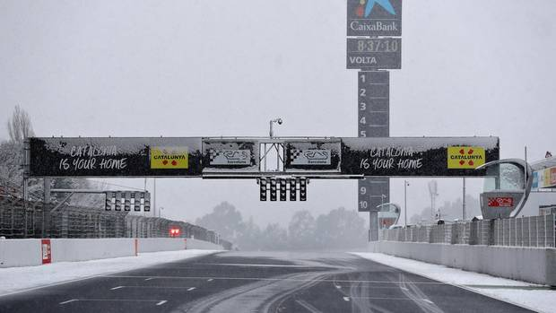 Formel 1 - Tests - Barcelona - Schnee - Winter