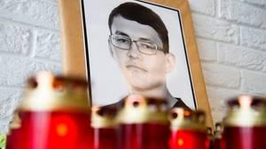 Slowakei: Konterfei des ermordeten Investigativ-Journalisten Jan Kuciak