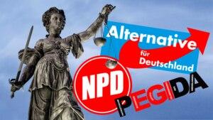 NPD, Pegida und AfD fordern ihre Anhänger auf, sich als Schöffen zu bewerben (Symbolbild)