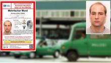 """Die Polizei sucht bei """"Aktenzeichen XY"""" nach Norman Volker Franz. Im Hintegrund der """"Metro""""-Markt"""" in Halle, an dem er 1997 zwei Menschen erschoss"""