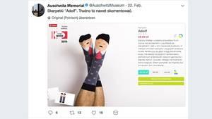 """Ein Screenshot des Tweets über die """"Adolf""""-Socke"""