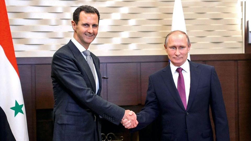 Baschar al-Assad bei Wladimir Putin. Russlands Hilfe hat das Regime stabilisiert