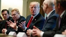 Donald Trump beim Stahl-Gipfel