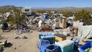Das vermüllte Grundstück in Kalifornien, auf dem die Kinder offenbar in einem Holzverschlag leben musstem