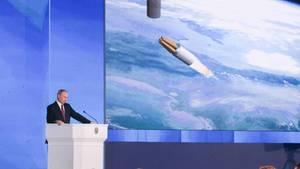 Wladimir Putin nutzte seine Rede an die Nation vor allem für eine Demonstration der militärischen Macht