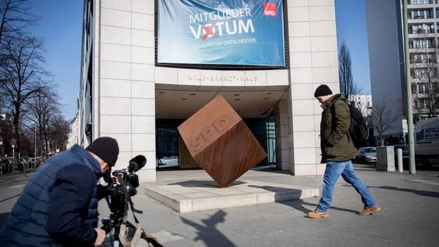 SPD-Zentrale vor dem Mitgliederentscheid
