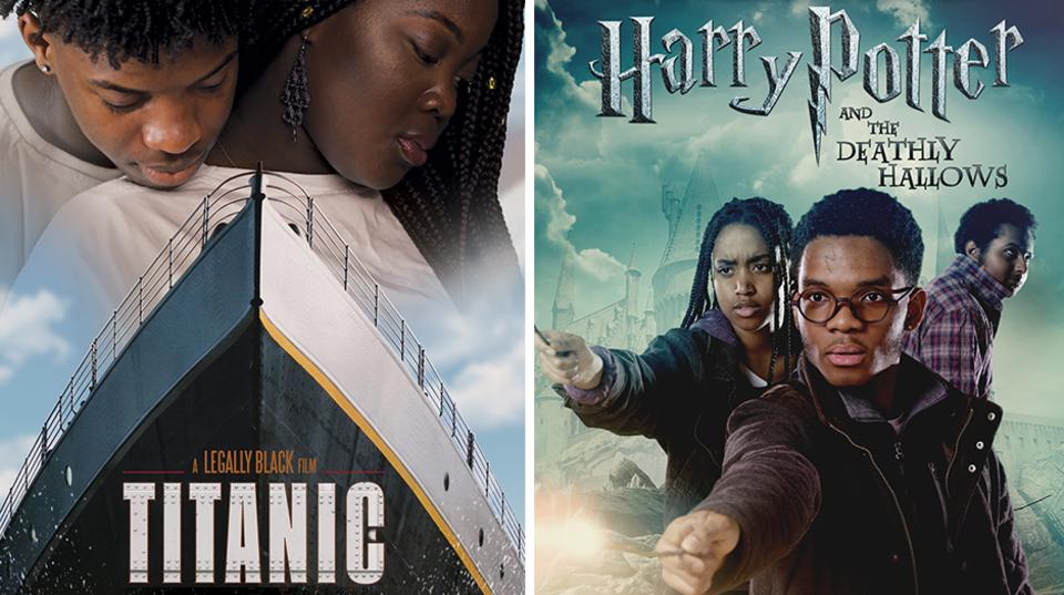 Die Filmplakate von Titanic und Harry Potter hängen in London gerade mit schwarzen Schauspielern