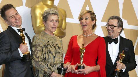 Sam Rockwell, Frances McDormand, Allison Janney und Gary Oldman bei den Oscars (v.l.n.r.)