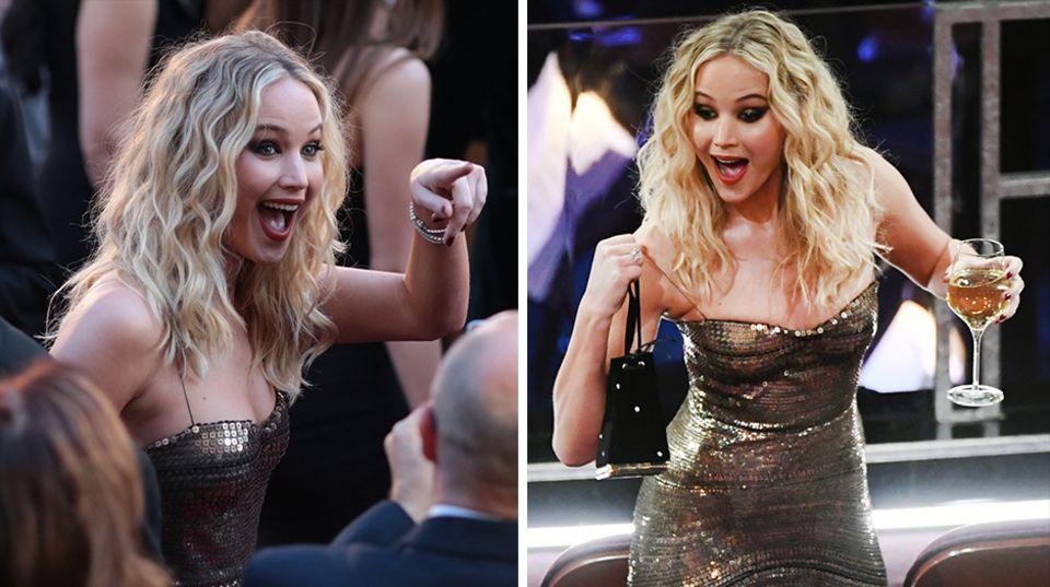 Jennifer Lawrence feiert bei der Oscar-Verleihung