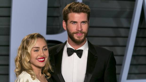 Cyrus und Hemsworth bei der Oscar-Party von Vanity Fair