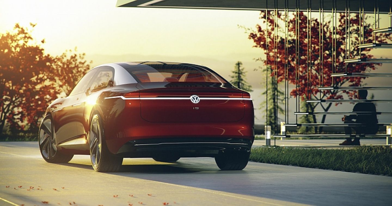 VW I.D. Vizzion Concept 2018 - mit sehenswerten Heckansicht
