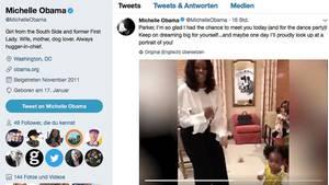 Michelle Obama tanzt mit ihrem kleinen Fan Parker Curry - Twitter-Video