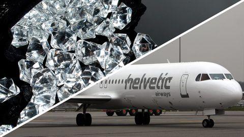 Diamentenraub aus einer Fokker 100 der Fluggsesellschaft Helvetic Airways in Brüssel