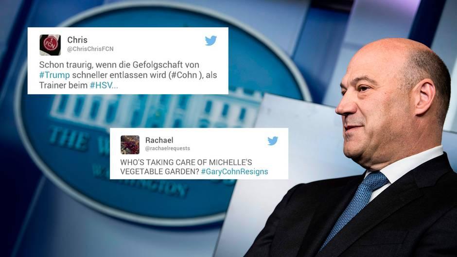 """Wirtschaftsberater Cohn: Twitter spottet über neuen Rücktritt in Trumps Team: """"Wer wird als Nächstes gehen: Melania?"""""""