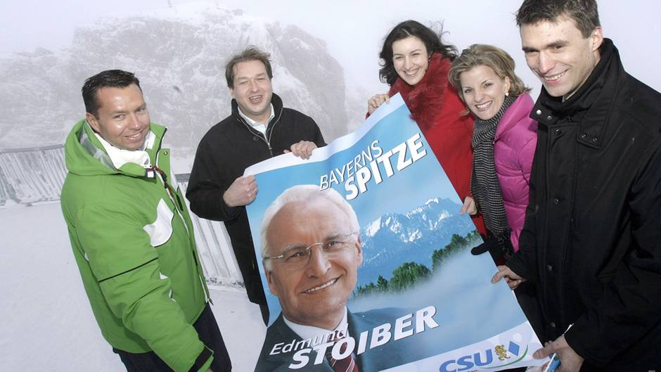 Junge CSU-Politiker auf der Zugspitze