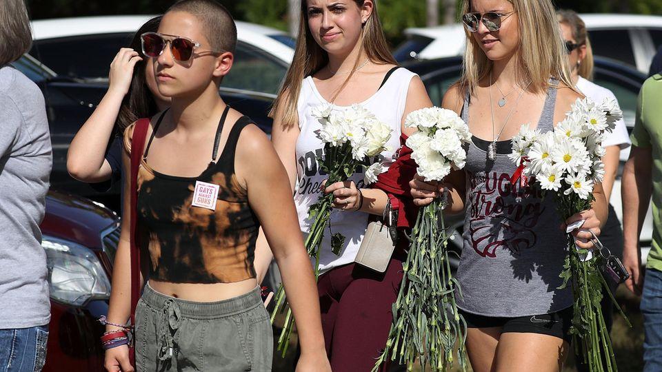 Emma Gonzalez (links) gilt als eine der Anführerinnen