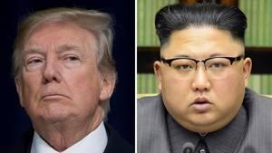 US-Präsident Donald Trump (l.) und Nordkoreas Machthaber Kim Jong Un