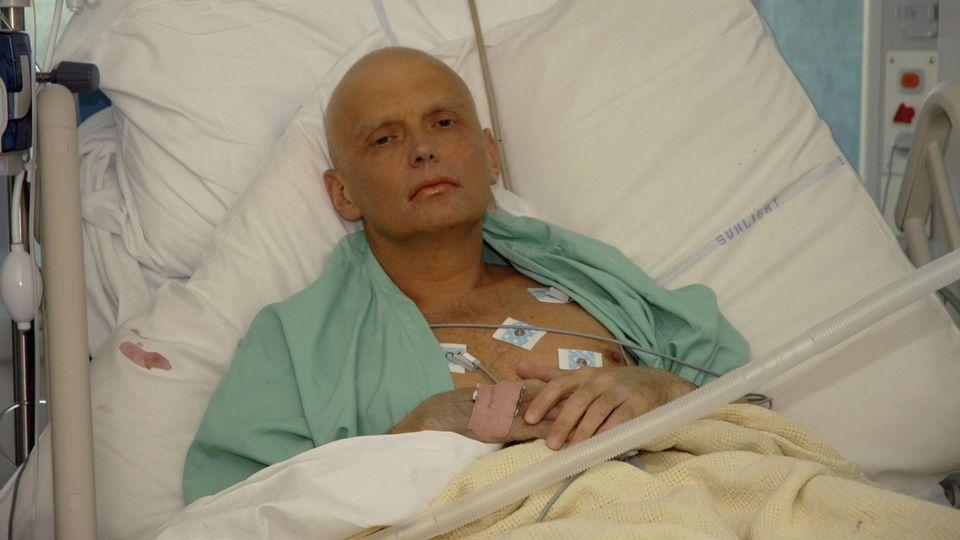 Alexander Litwinenko kurz vor seinem Tod: Der Russe wurde mit Plutonium vergiftet
