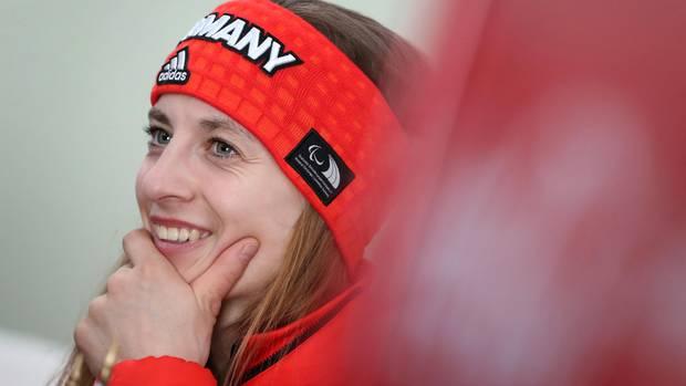 Die Deutsche Anna Schaffelhuber hat gut lachen: Sie holte bei den Paralympics das erste Gold für Deutschland