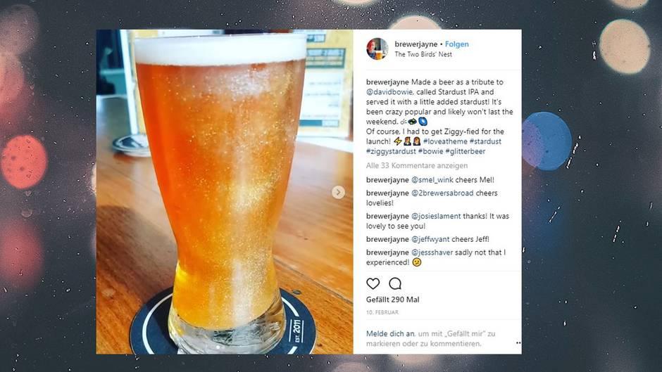 #GlitterBeer: Bling-Bling: In den USA gibt's jetzt Bier, das glitzert