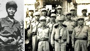 Olive Yang Jinxiu inmitten ihrer Kämpfer.