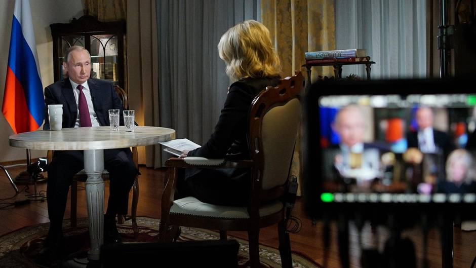 Auge um Auge mit dem Präsidenten: Wladimir Putin spricht mit Megyn Kelly von NBC
