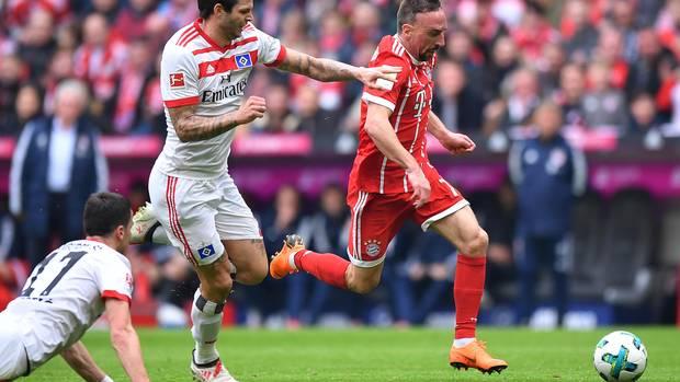 Auch mit 34 Jahren noch zu flink für die HSV-Abwehr: Franck Ribery