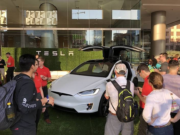 Tesla Stand SXSW